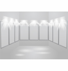 gallery light vector image
