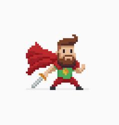 pixel art hero vector image vector image