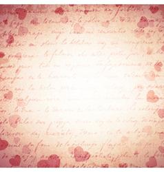 Vintage Love Romantic Background vector image