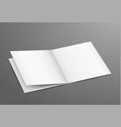 blank white open brochure magazine vector image