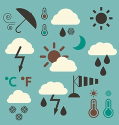Retro Weather Icons Set vector image vector image