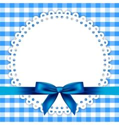 blue napkin frame vector image vector image