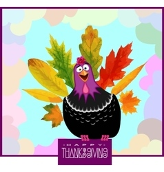 Funny Turkey Thanksgiving Day vector image