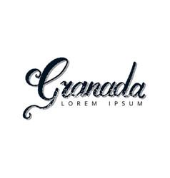 granada hand lettering logo vector image vector image