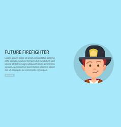 little future firefighter in uniform vector image
