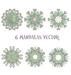Set mandalas Round Ornament Pattern Vintage vector image vector image