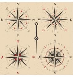 Vintage compasses set vector