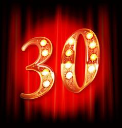 30 years anniversary logotype vector