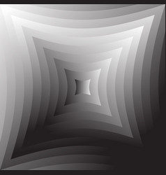 Abstract grayscale geometric background in square vector