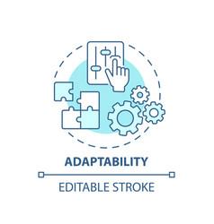 Adaptability concept icon vector