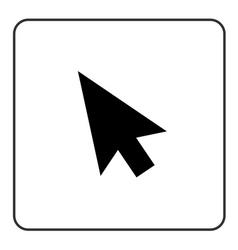 Arrow pointer sign black vector image