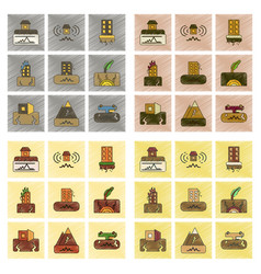 Assembly flat shading style icon natural disaster vector