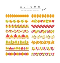 Autumn Leaves Pattern Brushes Set vector