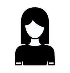 Black silhouette thick contour of faceless half vector