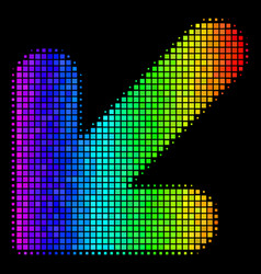 Bright dot arrow down left icon vector