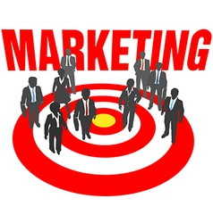 Business people team target marketing vector image