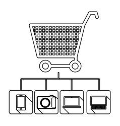 Buy online icon stock vector