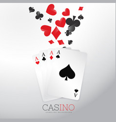 casino background with playing cards and symbol vector image