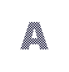 Checker pattern logo letter a vector