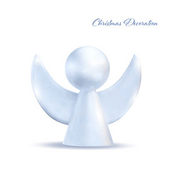Christmas white angel isolated on white background vector