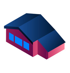 city house icon isometric style vector image
