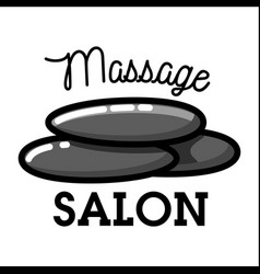 Color vintage massage salon emblem vector