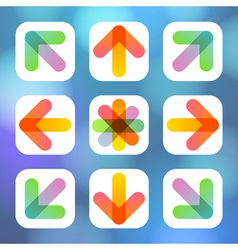 Colorful Arrow Icon Flat Menu vector image