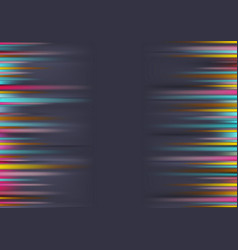 colorful shiny glowing stripes on dark background vector image