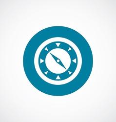 Compass icon bold blue circle border vector