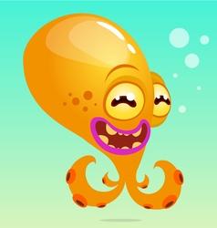 Cute cartoon octopus vector