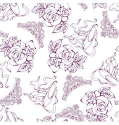 Dance line pattern ballet vector