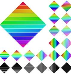Diamond Logo Set vector