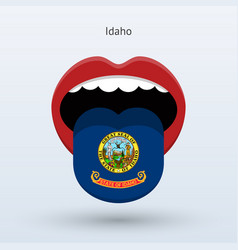 electoral vote of idaho abstract mouth vector image