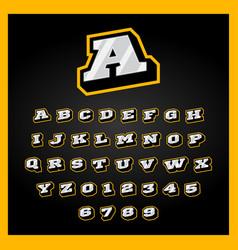 Etro sport style alphabet a-z letters set vector