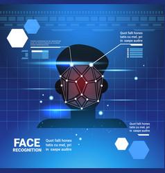 Face identification system scannig man access vector
