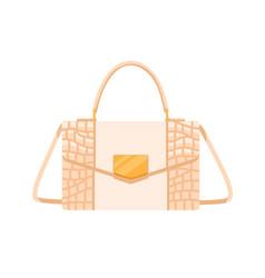 Fashion women flap handbag with gold buckle vector