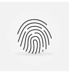 Fingerprint linear icon vector image