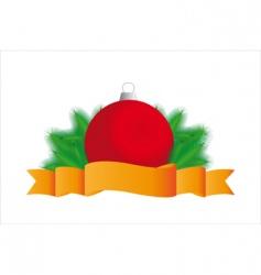 fir tree sphere vector image
