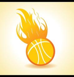 Fire ball concept vector