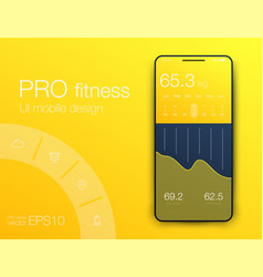 fitness app ui ux design ui design concept with vector image