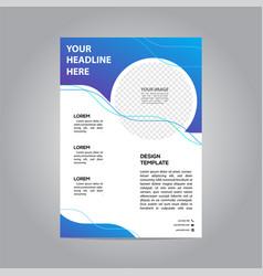 flyer brochure poster modern design template vector image
