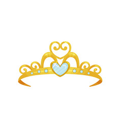 Golden princess tiara beautiful queen crown vector
