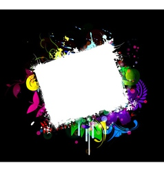 grunge frame with abstract background vector image