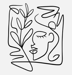 hand drawn abstract face in vector image