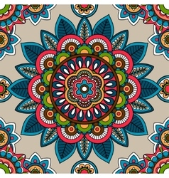 Indian mandala seamless pattern vector