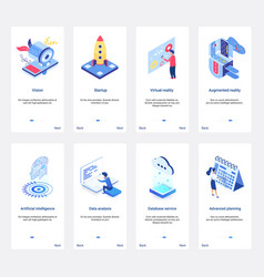 Isometric artificial intelligence for business vector