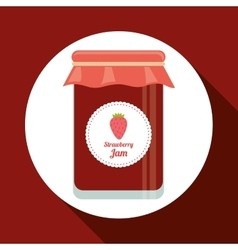 Jam jar design vector