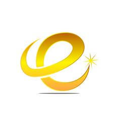 Letter e logo design template vector