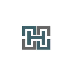 Letter h logo icon design sign vector