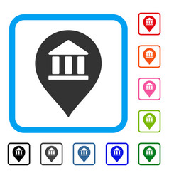 Library map marker framed icon vector